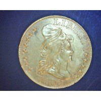 1800 CAPPED BUST RT HERALDIC $5 GOLD $5 MS62