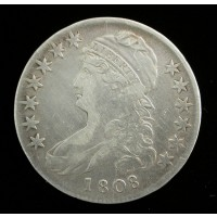 1808 CAPPED BUST HALF DOLLAR 50c VF20