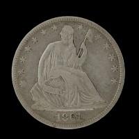 1867-S LIBERTY SEATED HALF DOLLAR 50c VF30