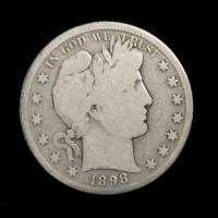 1898-S BARBER HALF DOLLAR 50c G6