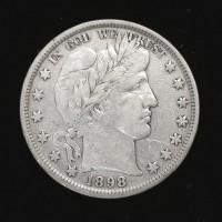 1898 BARBER HALF DOLLAR 50c F18
