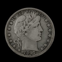 1897 BARBER HALF DOLLAR 50c VF20