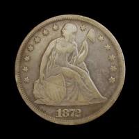 1872 LIBERTY SEATED DOLLAR $1 F12