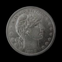 1895 BARBER HALF DOLLAR 50c AU58