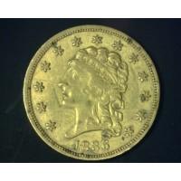 1836 Block8 CLASSIC HEAD $2 50 GOLD $2.50 EF48
