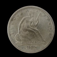 1867-S LIBERTY SEATED HALF DOLLAR 50c EF40