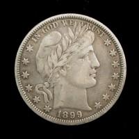 1899-O BARBER HALF DOLLAR 50c EF40