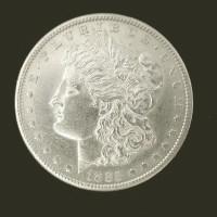 1885-S MORGAN DOLLAR $1 AU58