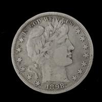 1898 BARBER HALF DOLLAR 50c VF20