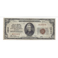 1929 TY'1 $20 NATIONAL BANK NOTE $20 F12