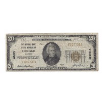 1929 TY'1 $20 NATIONAL BANK NOTE $20 VG8