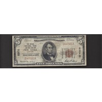1929 TY'1 $5 NATIONAL BANK NOTE $5 VG8