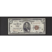 1929 $5 FEDERAL RESERVE BANK NOTE $5 VF20