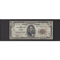 1929 $5 FEDERAL RESERVE BANK NOTE $5 F18