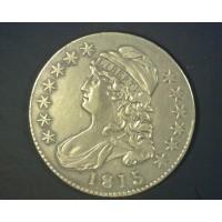 1815/2 CAPPED BUST HALF DOLLAR 50c AU50