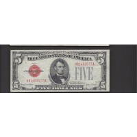1928-F Wide $5 UNITED STATES NOTE $5 EF40