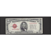 1928-E $5 UNITED STATES NOTE $5 VF20