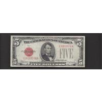 1928-C $5 UNITED STATES NOTE $5 VF30