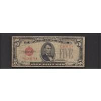 1928-C $5 UNITED STATES NOTE $5 VG8