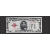 1928 $5 UNITED STATES NOTE $5 EF45