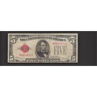 1928 $5 UNITED STATES NOTE $5 VG8