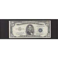 1953-A $5 SILVER CERTIFICATE $5 EF48