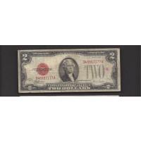1928-F $2 UNITED STATES NOTE $2 VG8