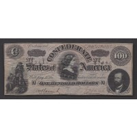 USA-C.S.A., 1864 Type 65 $100 CU63 CR491D