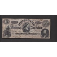 USA-C.S.A., 1864 Type 65 $100 CU CR491D