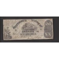 1861 Type 18 $20 VG8