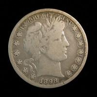 1898-O BARBER HALF DOLLAR 50c VG10