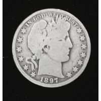 1897-O BARBER HALF DOLLAR 50c G5