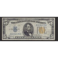 1934-A $5 WORLD WAR II NORTH AFRICA NOTE $5 F12