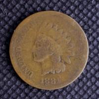 1881 INDIAN CENT 1c AG/G