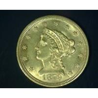 1879 LIBERTY $2 50 GOLD $2.50 MS61