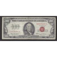 1966 $100 UNITED STATES NOTE $100 VG10