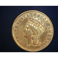 1874 INDIAN $3 00 GOLD $3 EF48