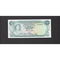 BAHAMAS, 1974 $1 VF35 KM35b