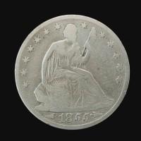 1855-O LIBERTY SEATED HALF DOLLAR 50c G6