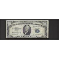 1953 $10 SILVER CERTIFICATE $10 VF20