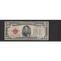 1928-F Wide $5 UNITED STATES NOTE $5 F12