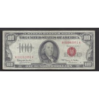 1966 $100 UNITED STATES NOTE $100 VF30