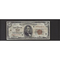 1929 $5 FEDERAL RESERVE BANK NOTE $5 F12
