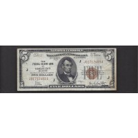 1929 $20 FEDERAL RESERVE BANK NOTE $20 VF20