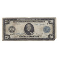 1914 Blue Seal $20 FEDERAL RESERVE NOTE $20 F12