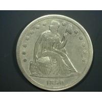 1850-O LIBERTY SEATED DOLLAR $1 AU50