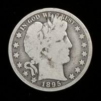 1895-O BARBER HALF DOLLAR 50c VG/G