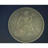 1848 LIBERTY SEATED DOLLAR $1 AU50