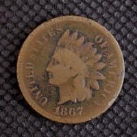 1867 INDIAN CENT 1c G5