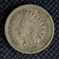 1862 INDIAN CENT 1c F18